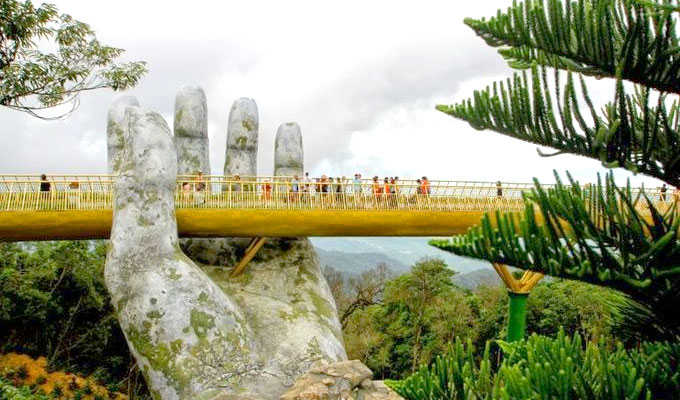 In the hands of the gods: Viet Nam's Golden Bridge goes viral