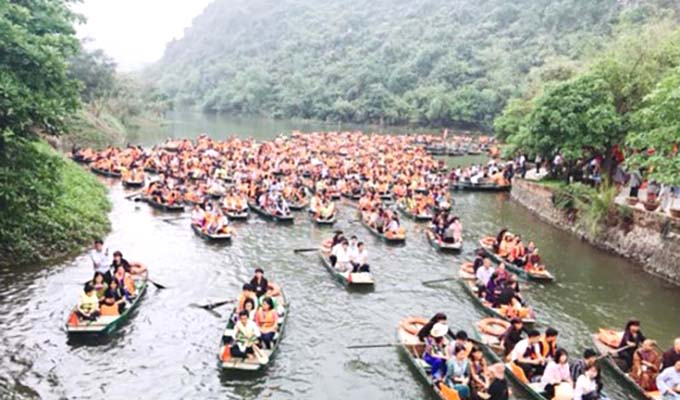 Ninh Binh welcomes over 7.3 million visitors during 2018