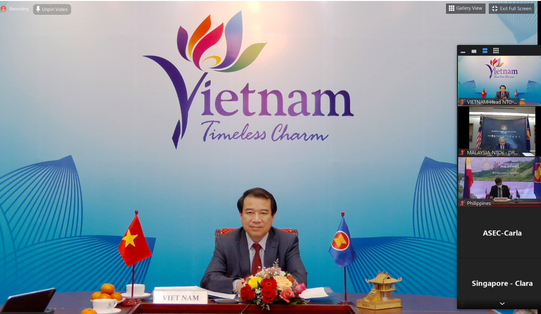 VNAT's Vice Chairman Ha Van Sieu attends 53rd ASEAN NTOs Meeting