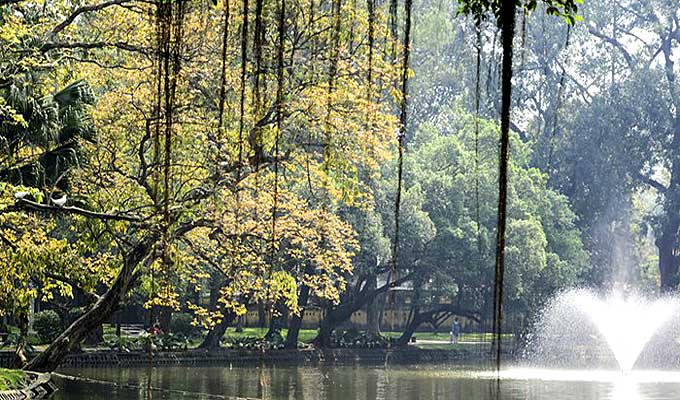 Indulging in autumn beauty at Ha Noi parks